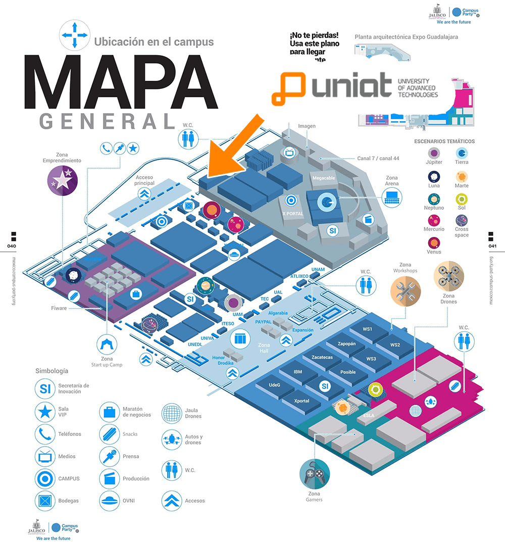 campus party uniat mapa
