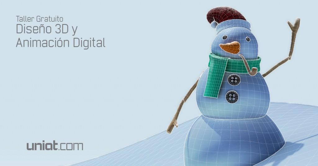 Taller gratuito - Diseño 3D y Animación Digital