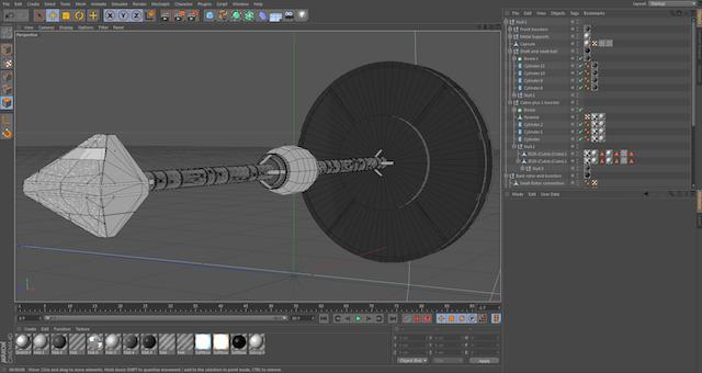 Creación de Nave en Cinema 4D - 3D