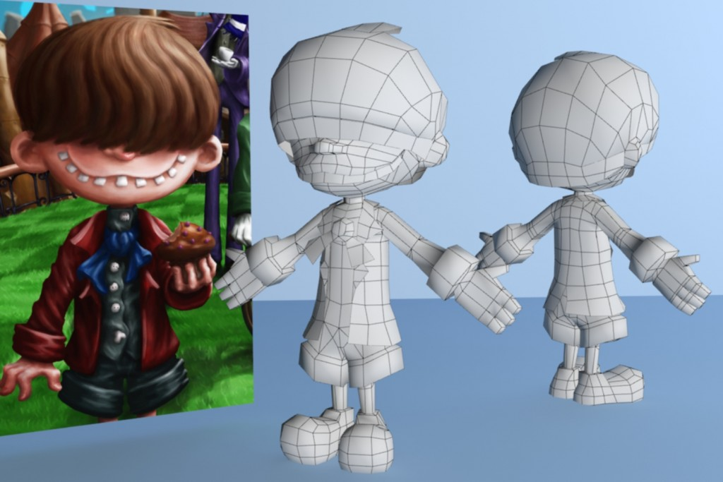 Proceso de modelado - Chimney Boy por Sergio Rebolledo