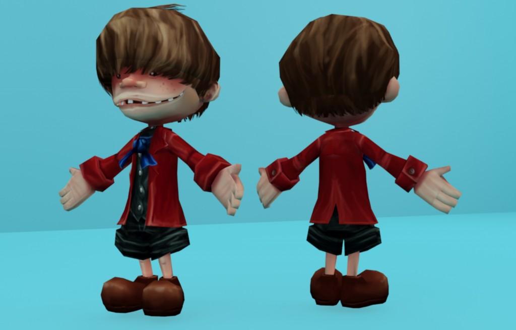 Personaje Texturizado - Chimney Boy por Sergio Rebolledo