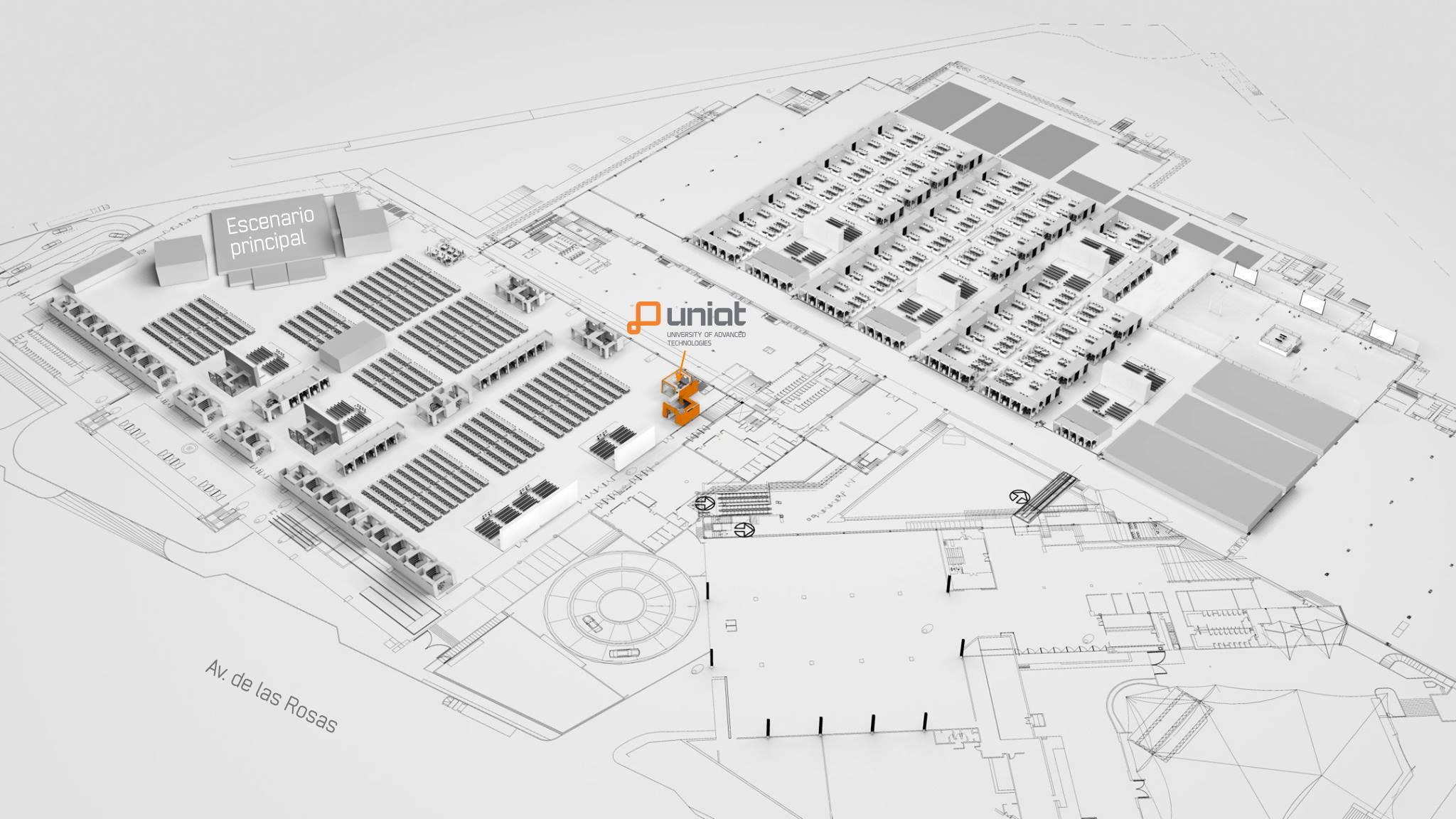 Mapa UNIAT campus party 2016 CPMX7