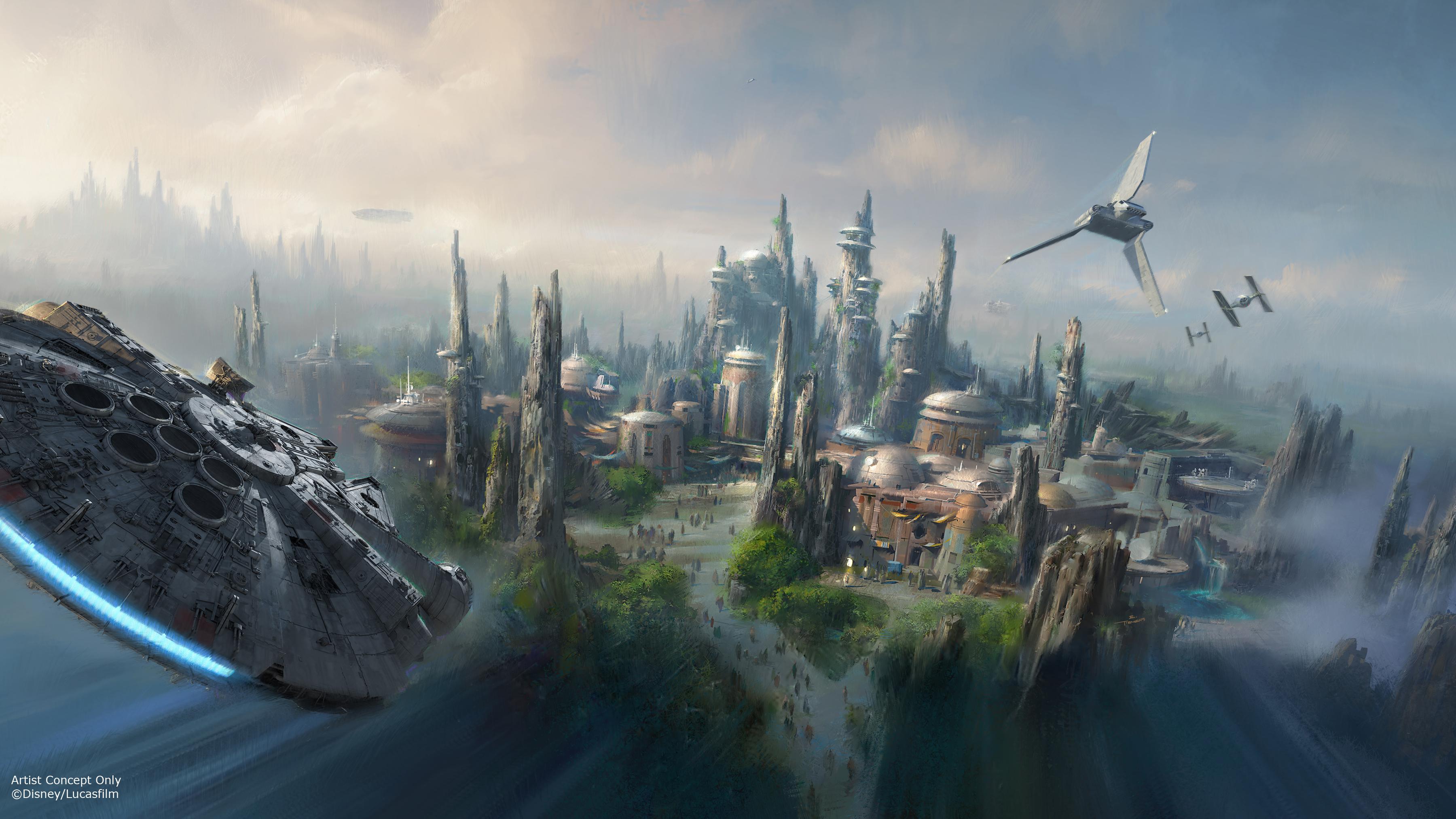Imágenes de Star Wars Land de Disney