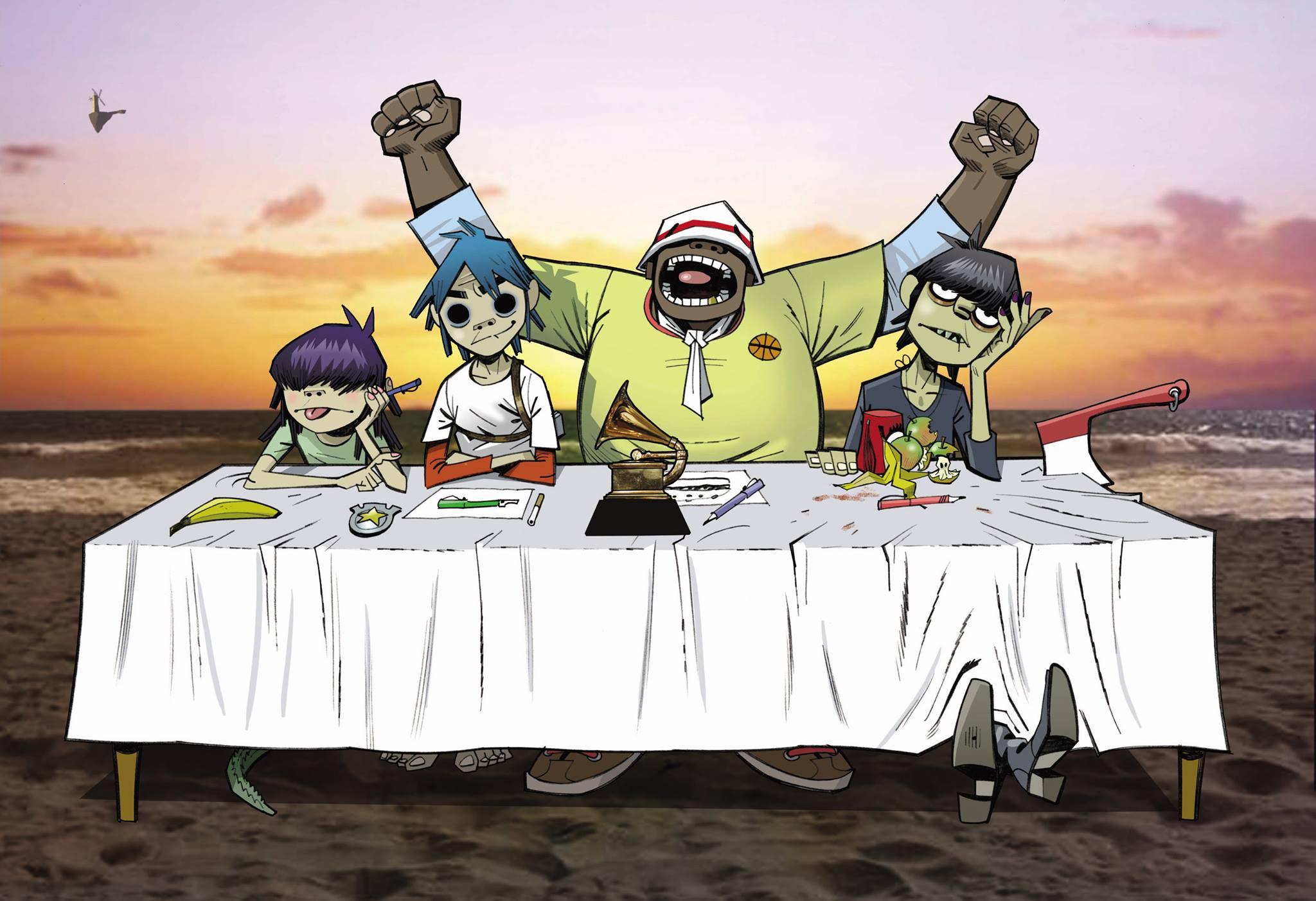 El concepto de Gorillaz, la banda que ha recurrido a la animación