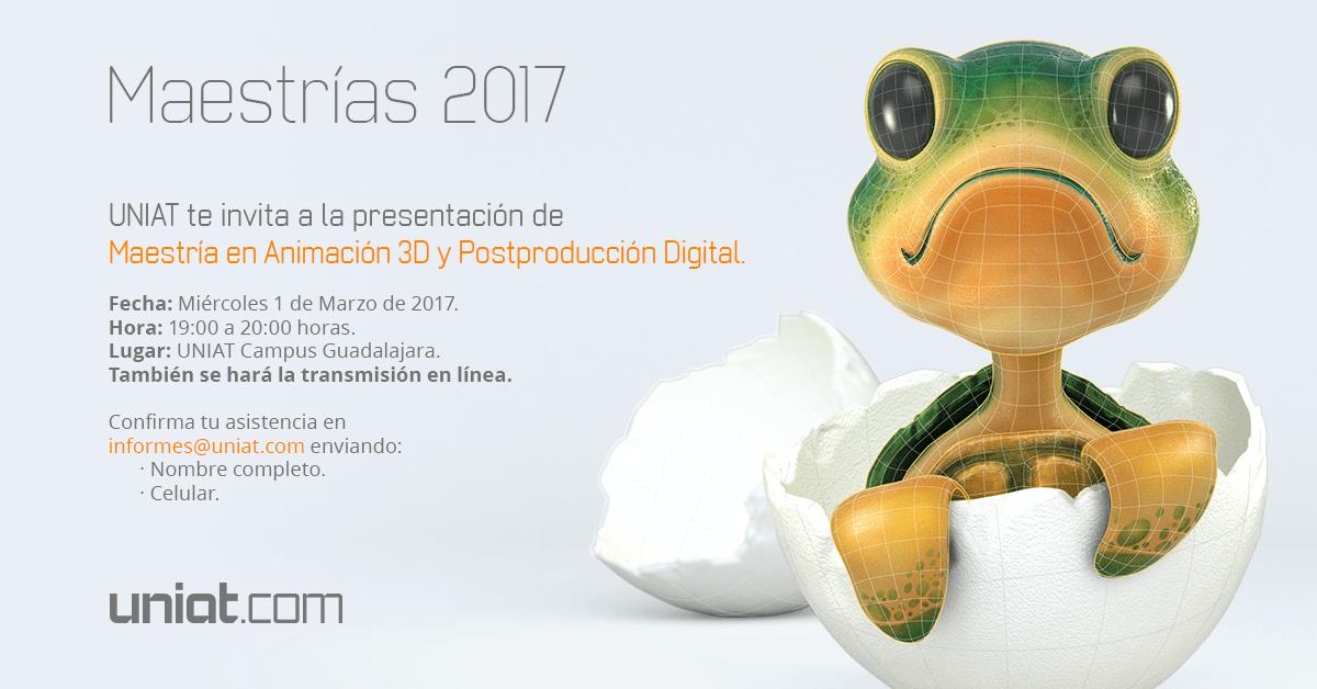 Presentación de la Maestría en Animación 3D y Postproducción Digital